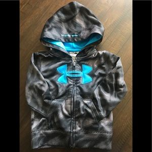 Boys Under Armour zip-up hoodie sweater. Size 3T